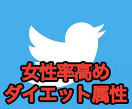【女性率高】ダイエット属性twitterであなたのHPやブログをツイートします! イメージ1