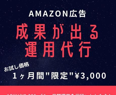 Amazon広告★1ヶ月15,000円で代行します 全特化型 5年間実績1200件が御社の商品を運用します イメージ1
