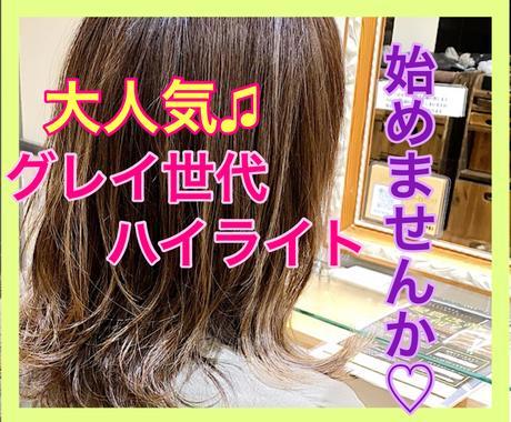 グレイ世代ハイライト♡2日間無制限で承ります 現役美容師⭐️が詳細カウンセリングで不安解消のお手伝い♫ イメージ1