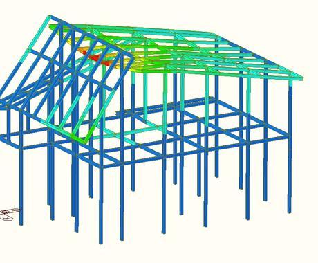 住宅や仮設展示物など小規模建築の構造計算します 自宅の設計や建築関係で仕事をしているが構造に関しては不安な人 イメージ1