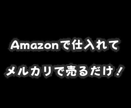 利益の取れるメルカリ商品を紹介します Amazonから仕入れOK!メルカリで利益の取れる商品を紹介 イメージ1