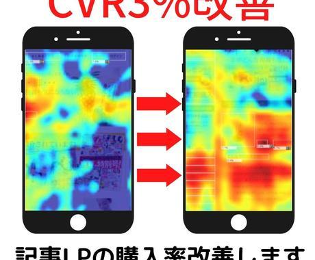 アド用記事LPの数値改善をします CVR、MCVRの改善をご提案、修正致します。 イメージ1