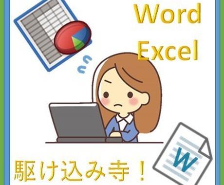 PC初心者向け!Word、Excelの質問答えます 毎日生徒さんの問題を解決している私が2点の質問に答えます! イメージ1