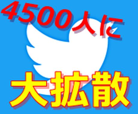 4つのTwitterアカウントで拡散します ★商品や★サービスの【宣伝】【拡散】をご希望の方にオススメ! イメージ1