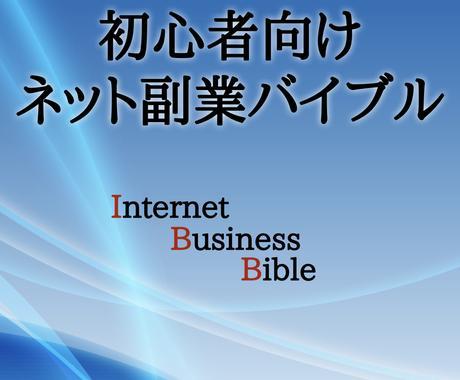 超初心者向けの『ネット副業バイブル』販売します これからネットビジネスを始めようと思っている人へ イメージ1