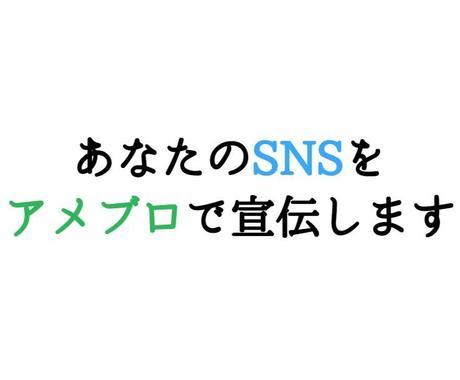 あなたのSNSアカウントを私のアメブロで紹介します アメブロ ツイッター インスタグラム Youtube等の宣伝 イメージ1