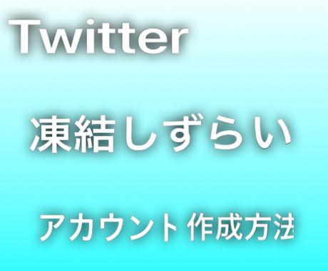 Twitterアカウントの増やす方法教えます 凍結しずらいアカウントをしたい方にオススメ! イメージ1