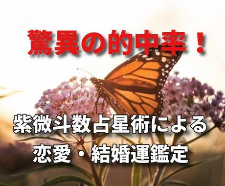 紫微斗数占術で恋愛運・結婚運&開運方法を占います 驚異の的中率を誇る中国古典占星術でしっかり鑑定 イメージ1