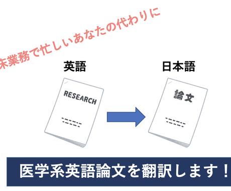 忙しい貴方の代わりに医療系英語論文を翻訳します 大学院卒、現在は企業で働くPTが忙しいセラピストをお助け! イメージ1