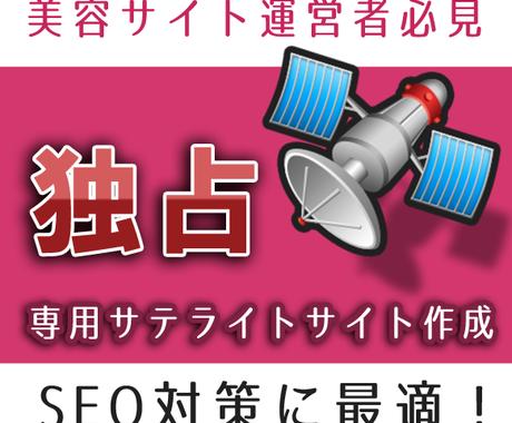 SEO効果抜群のサイトを作ります 美容アフィリエイトに最適の専用サテライトサイト作成 イメージ1