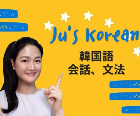 国家から正式に韓国語教師と韓国語の勉強をします 韓国語の会話、文法、好きなテーマに合わせての授業 イメージ1