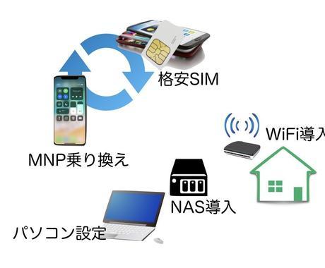 スマホ、パソコン、WiFi各種設定お手伝いします 格安スマホへの見直し、パソコン全般の設定や相談ありませんか? イメージ1