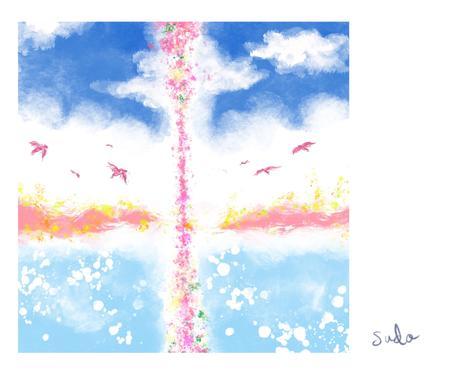 イラストつき☆2人のオーラ鑑定☆恋愛相談のります 【癒しのオーラ・カラー・イラスト】つき イメージ1