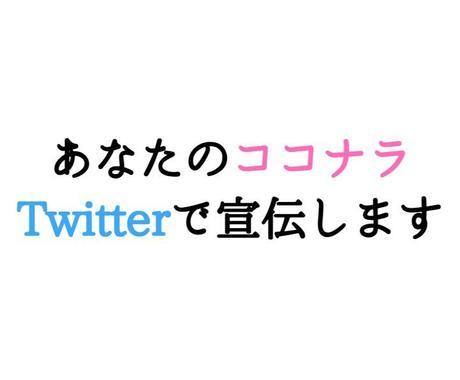 あなたのココナラをTwitterで宣伝します Twitterのフォロワー約12400人に1回宣伝します。 イメージ1