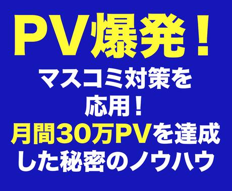 PV爆発!取材されるプレスリリース見分け方教えます サイトのアクセス数を増やしたい、AdSenseで稼ぎたい方へ イメージ1