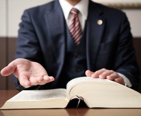 民法、会社法等法律の質問を受けます 法律関係の資格取得を目指している方へ イメージ1