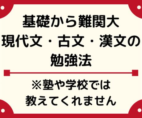 現役プロ講師が基礎→難関大への国語勉強法を教えます 塾や学校では教えてくれない合格までのステップを徹底解説 イメージ1