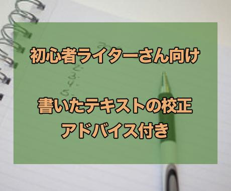 初心者ライターさんのテキストを見ます 修正のポイントや構成も合わせてアドバイス イメージ1