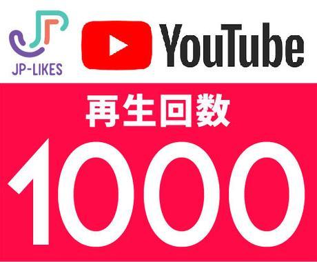 Youtube 再生回数 1000回を増やします 10,000回¥6500、24時間以内に開始。 イメージ1
