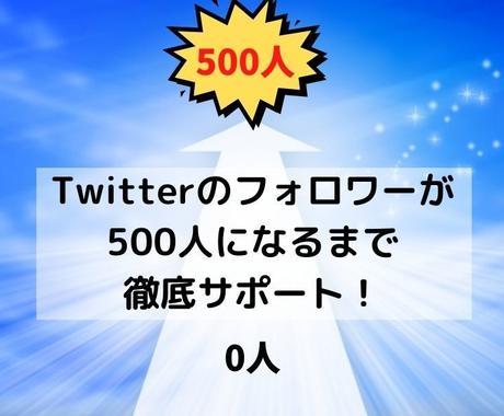500人フォローされるまでサポートします Twitterのフォロワーが500人になるまでサポート! イメージ1