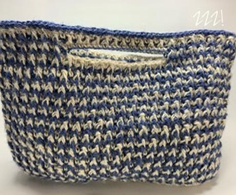 ちょっとそこまでバッグを作ります かぎ針編みで作る鞄や、ポーチを作ります! イメージ1