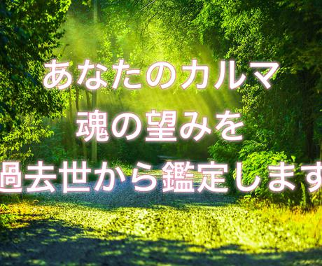 過去世から今世へ魂の望み使命やカルマをお伝えします 今世の目的を知って、今を幸せに生きるヒントにしてください! イメージ1