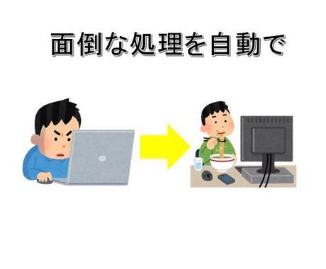 日々のExcel作業を効率化します 面倒くさい作業を自動化しませんか? イメージ1