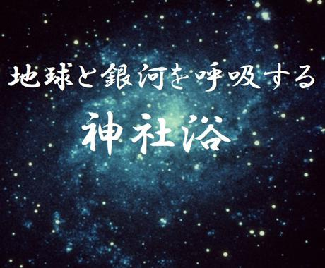 地球と銀河の鼓動をうけとる神社浴をナビゲートします 外国人も子どもも楽しめる神社浴で地球と銀河を「呼吸する」 イメージ1