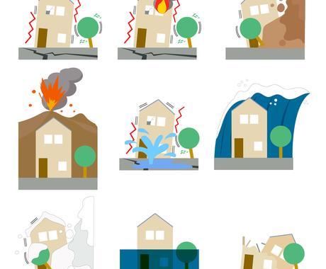 自然災害リスクを調査します 引っ越し先や出店先などの自然災害リスクを調査し報告します。 イメージ1