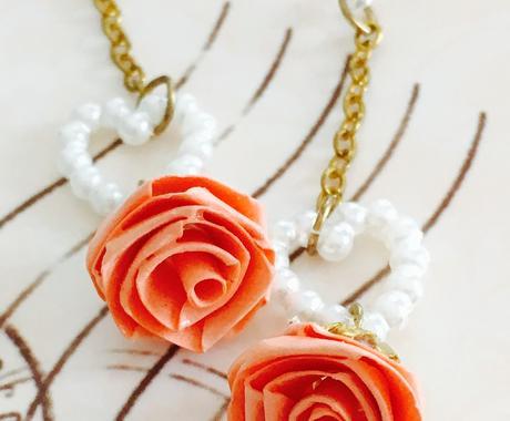 無料枠アリ♬彼女へ可憐なバラのピアスをお作りします★ イメージ1
