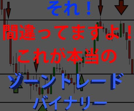 プロトレーダー直伝バイナリーライントレード教えます 正しいゾーンの使い方でバイナリーオプションは勝てます。 イメージ1