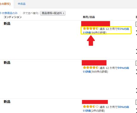 【お待たせしました!!】Amazon アマゾンの出品者評価(セラー)をお付けいたします♪ イメージ1