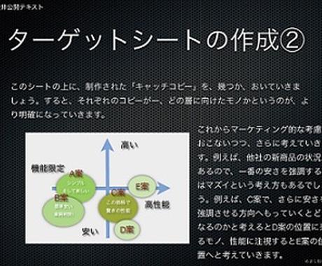 企業向けキャッチコピー製作のお手伝い ターゲットシート作成例付き イメージ1