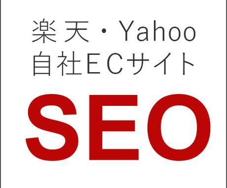 ECサイトに特化した、内部対策SEOを行います 楽天・Yahoo!・自社ECサイトに最適な内部SEOをご提案 イメージ1