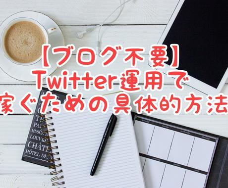 ブログ不要!副業で稼ぐ方法教えます Twitterを運用する方法です イメージ1