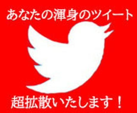 2RT超拡散!Twitter30RTまで拡散します あなたのツイートを拡散、ブログやYouTube動画の宣伝も! イメージ1