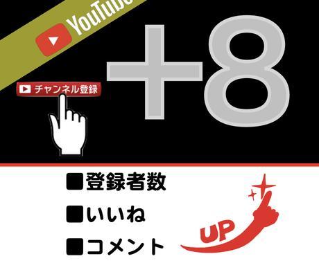 YouTube登録者数+8人になるまで拡散します 登録者数+8になるまで拡散継続! イメージ1