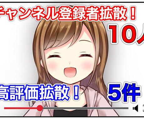 YouTubeチャンネル登録+10名拡散宣伝します リアルアカウントに拡散します!もちろん日本人ユーザーです。 イメージ1