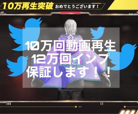 Twitter動画再生回数10万回増加します 10万回再生12万インプ保証!! イメージ1