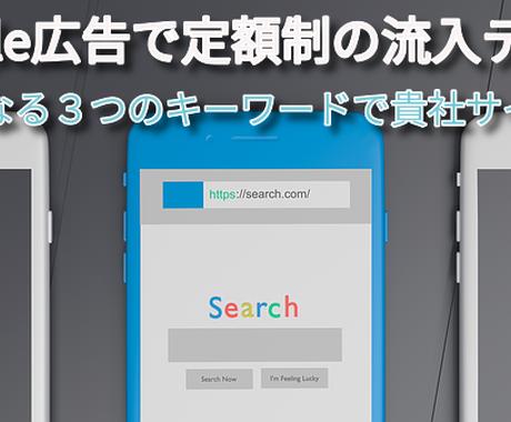 Google広告で定額制の流入テストいたします 運用手数料7500円~で販売テストします イメージ1