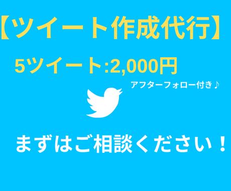 Twitterrのツイート・文章作成を代行します Twitter(ツイッター)のツイート・文章作成のプロ イメージ1