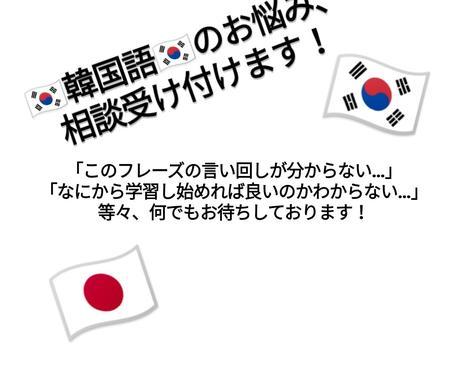 韓国語学習での悩み、相談、問題解決致します 韓国語学習において生じる悩みや相談事、問題を解決致します! イメージ1
