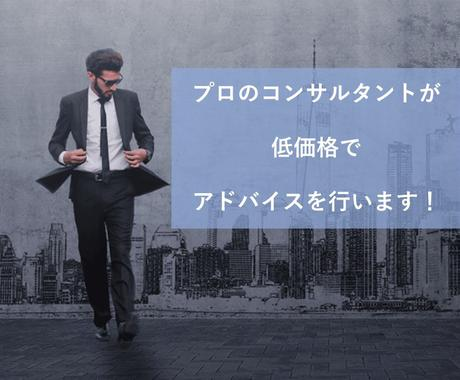 ベテランコンサルタントがアドバイス、資料作成します 事業のお悩み相談から経営分析、市場調査、節税相談まで! イメージ1