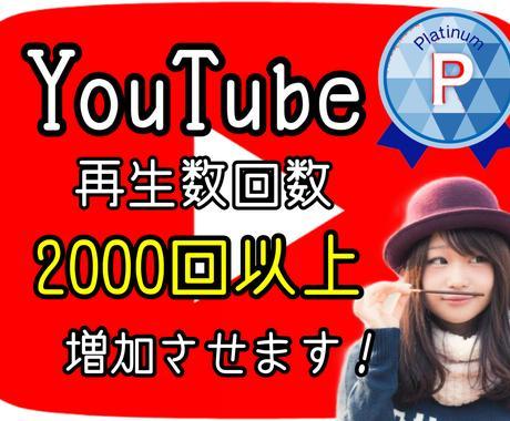 YouTube動画+2000回再生以上拡散します 再生回数増加!実績450件突破!安心!高品質! イメージ1