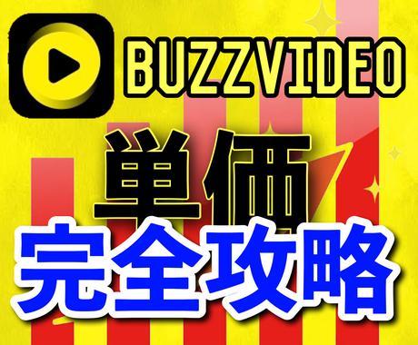 期間限定セール中!!バズビデオ単価攻略方法教えます Buzzvideo/最高1円/収益・データ付/成果・感想アリ イメージ1