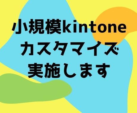 小規模kintoneカスタマイズ実施します サービス時間内(1~10時間)で実装可能なものでしたら何でも イメージ1