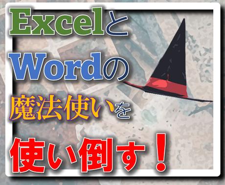 Excelの魔法使いを使い倒してほしいと思います ExcelやWordの魔法使いを6時間、使い放題です! イメージ1