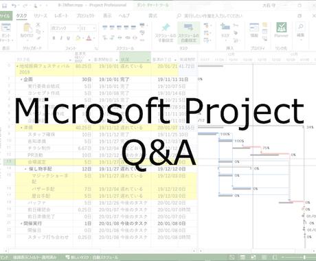 MS Projectの使い方の疑問にお答えします MS Projectに詳しい人が周囲におらず困っている方へ イメージ1