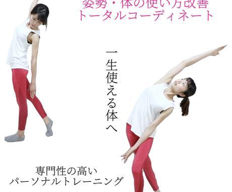女性限定!必要な運動をトータルコーディネートします 理学療法士が教える体の使い方!姿勢改善など専門性の高いプラン イメージ1