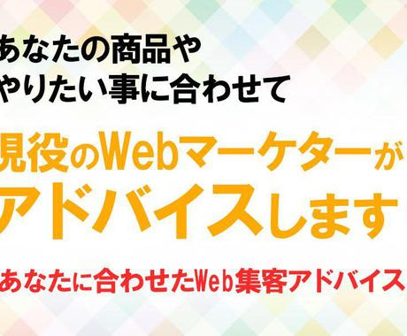 店舗・商品のネット集客、SNS運用の相談にのります 現役のWEBマーケターがあなたのWEB集客をアドバイスします イメージ1
